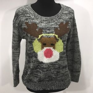 Rewind Rudolph the Red Nose Reindeer Sweater